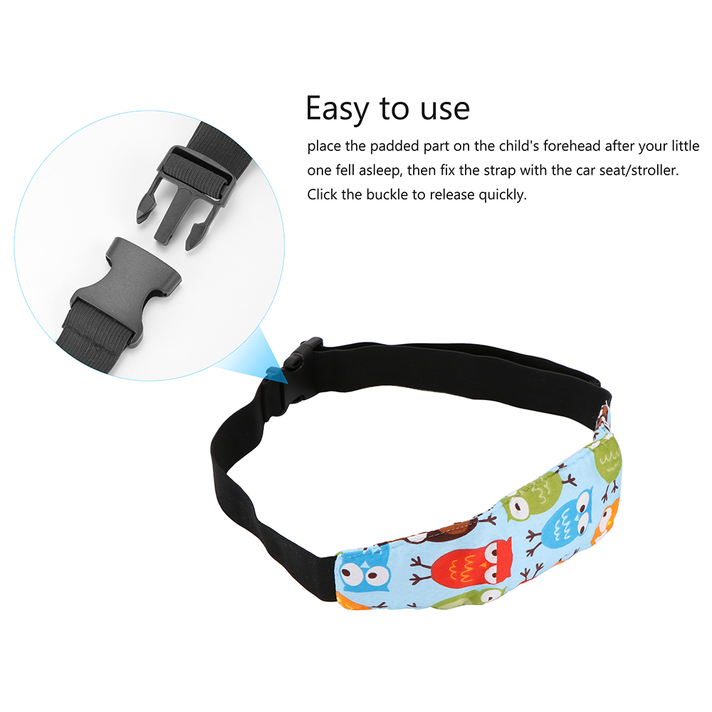Image 3 - Practical Safety Baby Kids Stroller Car Seat Sleep Nap Aid Head Fasten Support Holder Belt Head Support Holder Sleep Belt Owl-in Seat Belts & Padding from Automobiles & Motorcycles