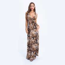 Printed sexy print leopard dress New2019feminine tights waist tight non-slip Cami summer party womens