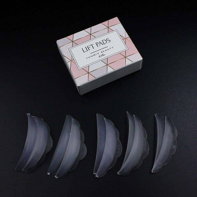 5Pair/box Silicone Eyelash Perm Pad Recycling Lashes Rods Shield Lifting 3D Eyelash  Makeup Accessories Applicator Tools