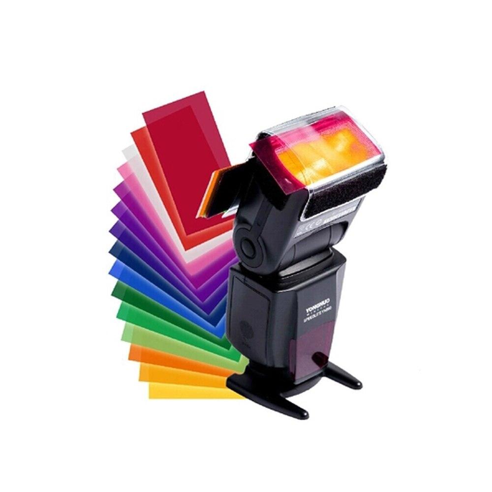 Useful FLash Speedlite Speedlight Color Gels Filter Card For Camera 12 Colour DA0485 YN560 IV YN600EX