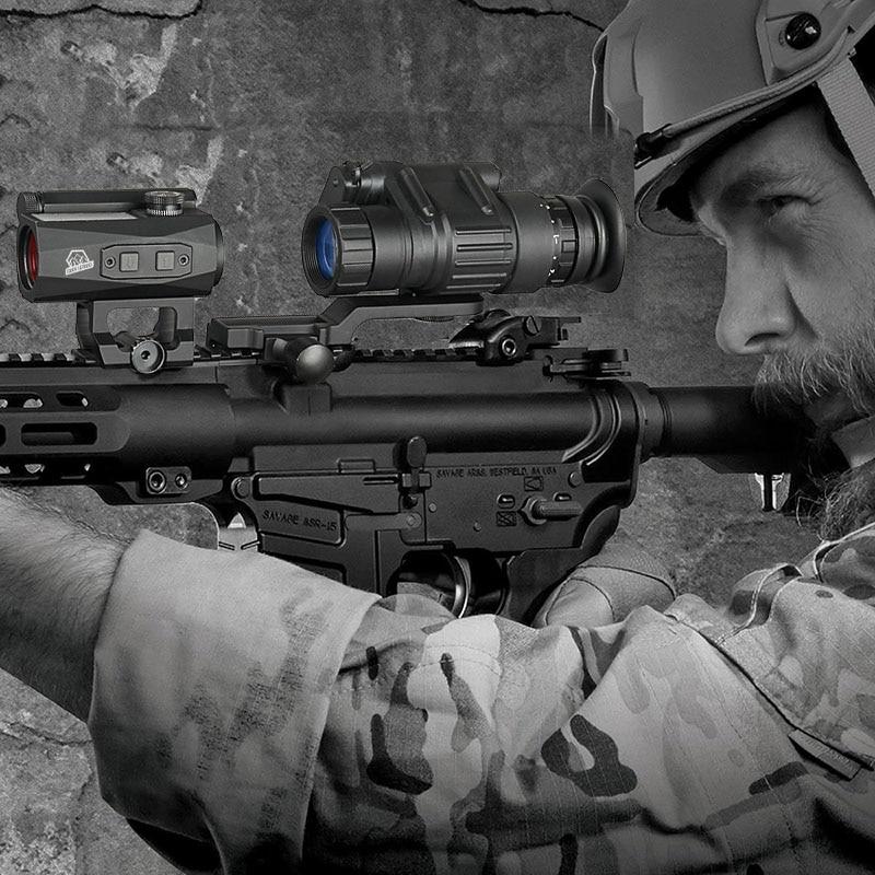 Tactical PVS-14 Style Digital Night Vision For Hunting Black Tan Color OS27-0008 new design digital pvs 14 night vision scope for hunting wargame cl27 0008