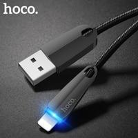 HOCO-cable usb para iphone X 11 Pro Max 8 7 6 ipad mini, cable de carga rápida LED, adaptador de datos de cargador de teléfono