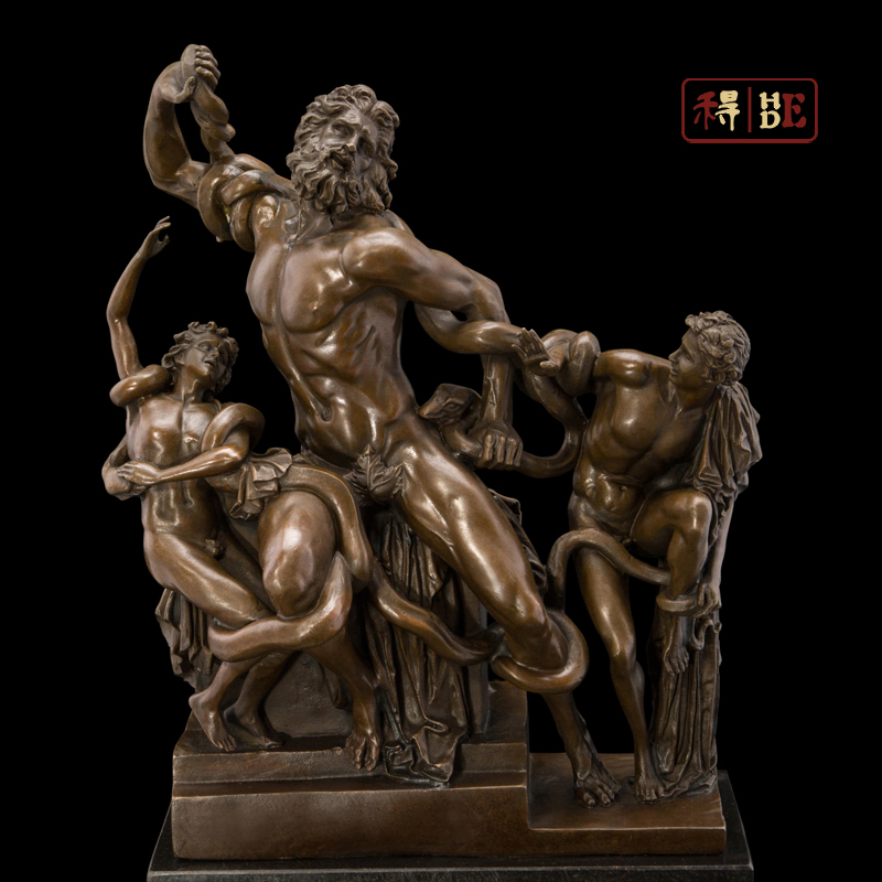Wo have copper art Laocoon world masterpiece villa model room soft outfit DS-396