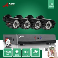 ANRAN 4CH HDMI 1080N AHD DVR HD Day Night 1800TVL 36IR IR Cut Waterproof Outdoor Security
