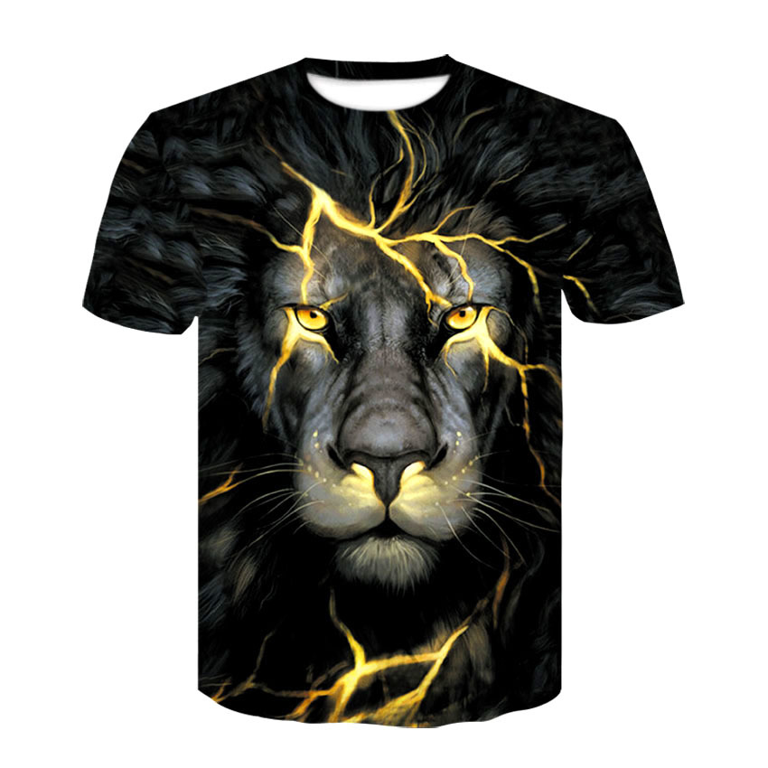 Newest 3D Print Lightning lion Cool   T  -  shirt   Men/Women Short Sleeve Summer Tops Tees   T     shirt   Fashion