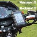 Motocicleta soporte para teléfono móvil soporte del teléfono soporte para iphone 4 5s 6 plus gps sostenedor de la bici con impermeable bolsa soporte movil moto