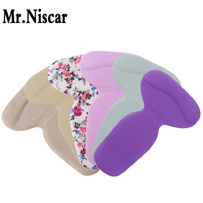 Mr.Niscar 1 Pair Gel Shoe Cushion Thick Breathable Fabric Insert Insole T-shape Anti-wear feet Shoe Cushion for Men Women 5 pairs slica gel silicone shoe pad insoles women s high heel cushion protect comfy feet palm care pads accessories