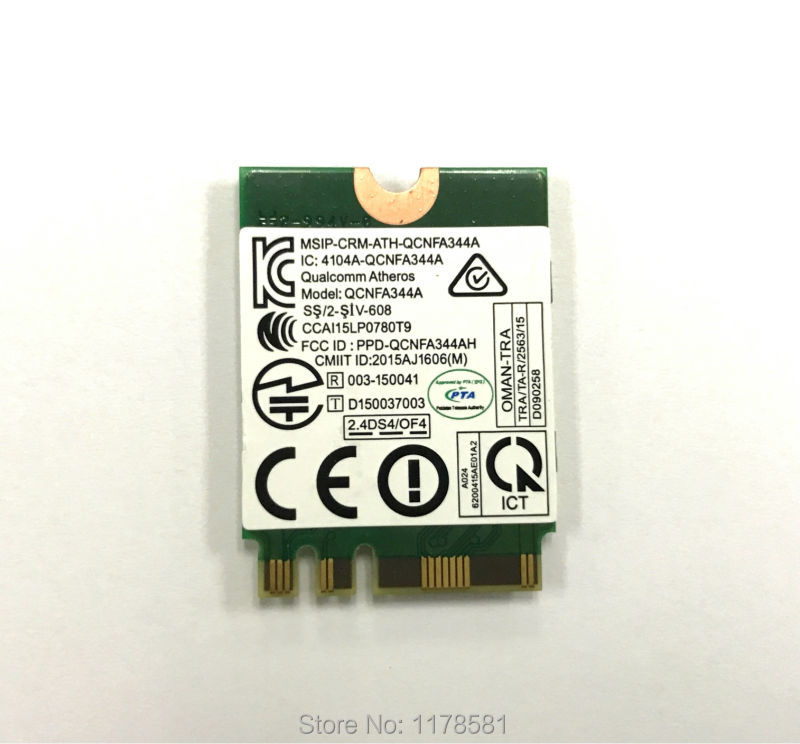 Atheros QCNFA344A Killer 1435 802 11ac Bluetooth 4 1 867Mbps BCM94350ZAE M2  NGFF WiFi Wireless Card better than BCM94352Z-in Network Cards from