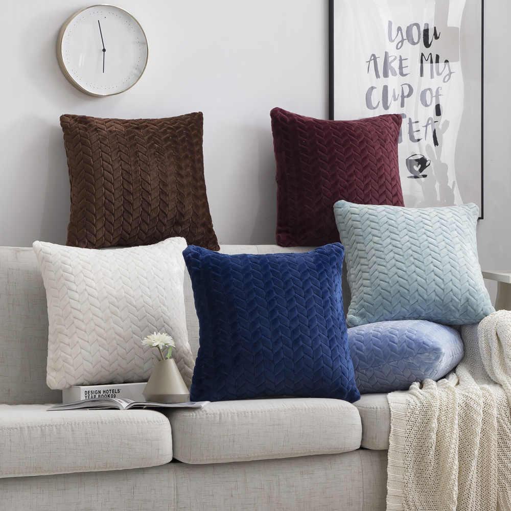 Наволочка 45*45 квадратные декоративные подушки украшения для дома бархатные наволочки для гостиной спальни дивана гостиной украшения