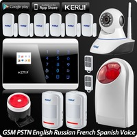 IOS Android APP Remote Control Wireless GSM PSTN Home Security Alarm System Wireless Flash Siren Wifi