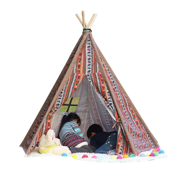 Indian design children pure cotton cloth interior baby play house Kids Teepee  sc 1 st  AliExpress.com & Indian design children pure cotton cloth interior baby play house ...