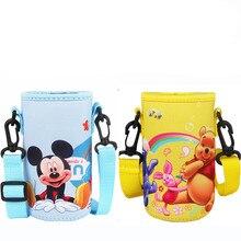 Детский рюкзак для переноски с изображением Микки из мультфильма disney, чехол для переноски, чашка с изоляцией, прямая чашка, Набор чашек 220-300 мл