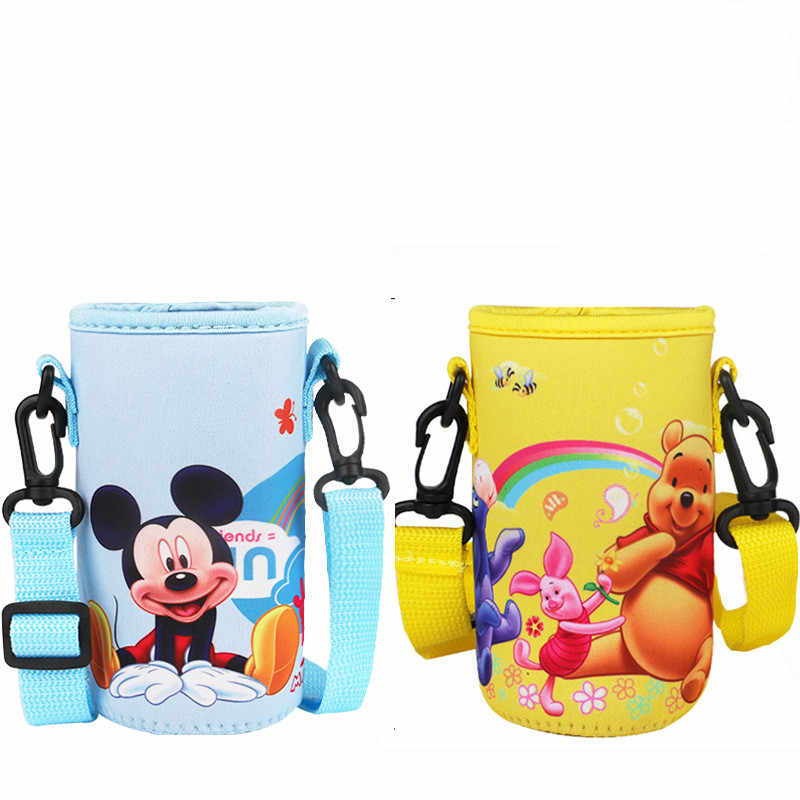 Disney Children's Safety and Health Cute Cartoon Mickey Backpack Carrying Case Insulation Cup Straight Cup Cup Set 220-300ML