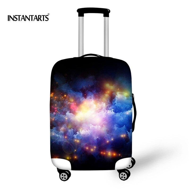 INSTANTARTS утолщенной Чемодан защитные чехлы Модные пространство вселенной Galaxy узор Дело Тележки пыле Путешествия Аксессуары