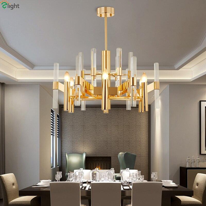 Modern Crystal Led Pendant Lights Living Room Gold Alloy Led Pendant Lamp Dining Room Pendant Light Hanging Fixtures For Bedroom