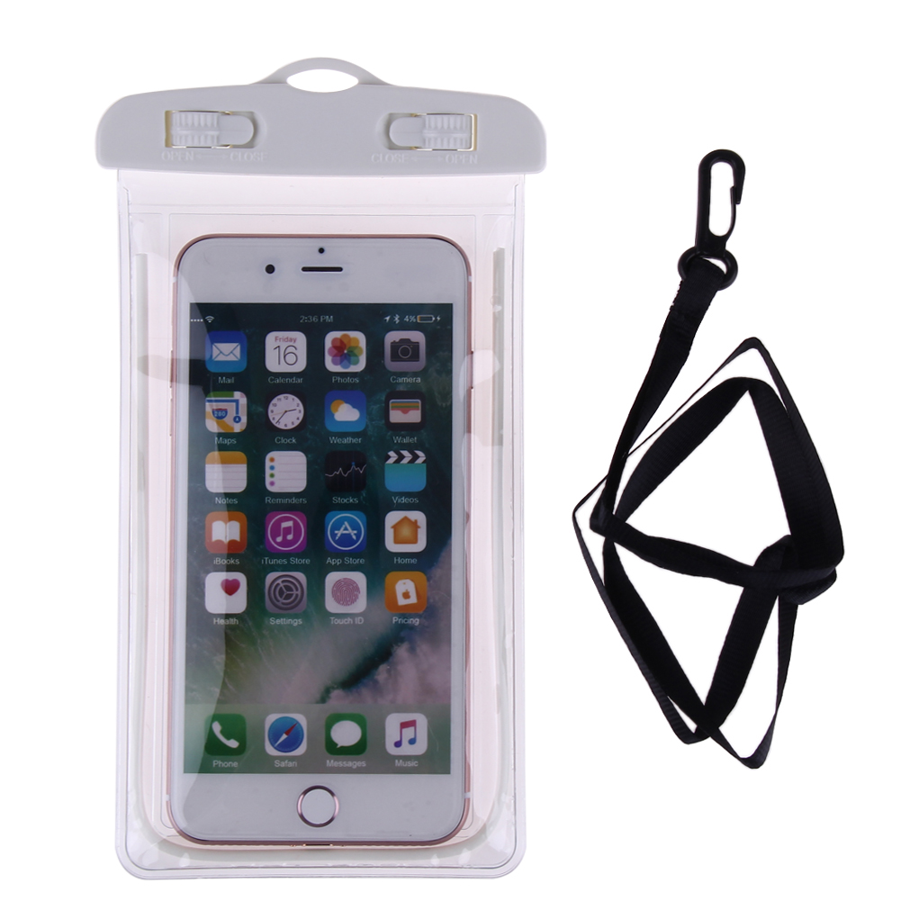 Waterproof Luminous Phone Pouch Bag Underwater Phone Case Clear Swimming Phone Bag 10 meters deep For iphone 6 6s 7 for Samsung