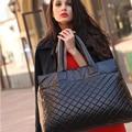 Black diamond treliça espacial temperamento brilhante deslumbramento pena saco jaqueta saco acolchoado bolsa de ombro
