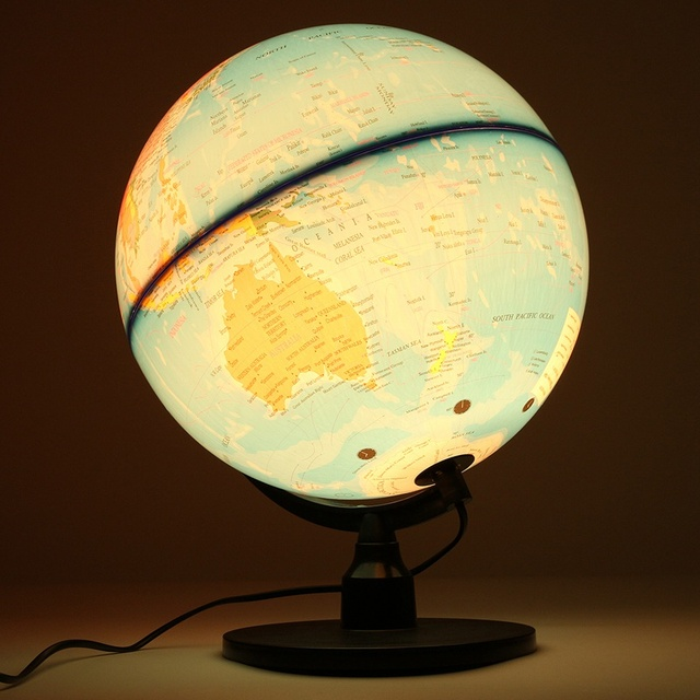 Modern LED Electronic Floating Geography Globe World Map For Birthday  Business Gift Home Office Desk Decor