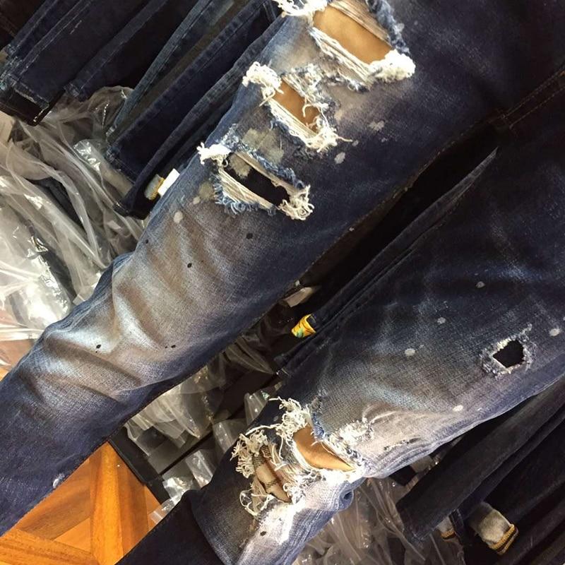 Heißer Verkauf 2018 Sommer Jeans für Frauen Loch Mode Zerrissenen Jeans Frau Harajuku Druck Pantalon Femme Stretchhose Neue-in Jeans aus Damenbekleidung bei  Gruppe 2