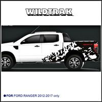 custom for Ford ranger stickers 2pc wildtrak mud styling car rear trunk graphic vinyls accessories modified decorative decals