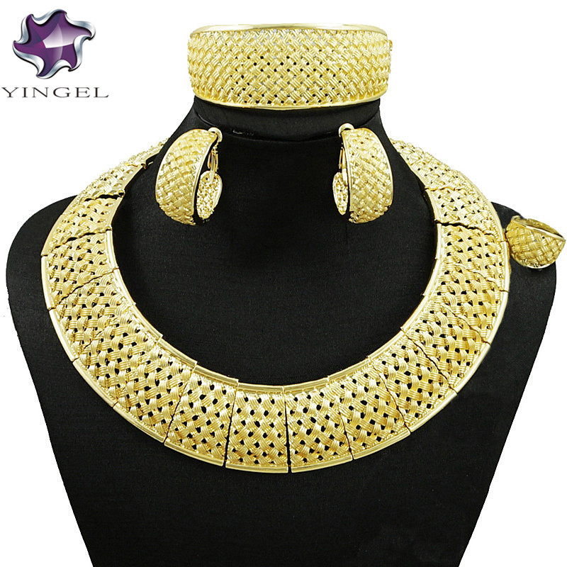 african big jewelry sets  gold jewelry sets with stone party jewelry set women necklace