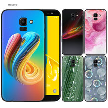 Abstract Pattern Silicone TPU Case For Samsung Galaxy J4 J6 A6 A8 Plus A7 A9 J8 2018 A5 2017 Soft Cover Shell Butterfly Liquid(China)