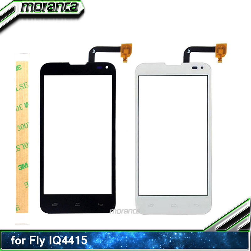 4.5 Phone Touch for Fly IQ4415 Era Style 3 Touch Screen Digitizer Sensor Touchscreen Panel Front Glass Lens +3M Sticker