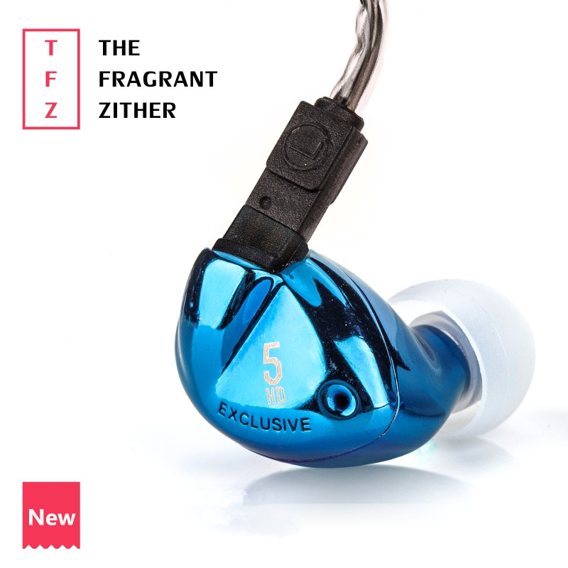 TFZ EXCLUSIVE 5 In Ear Earphone The Fragrant Zither Monitor HiFi Headset Customized 9mm Dynamic DJ Earphones tfz queen hifi in ear monitor earphones earphone dynamic iem with 2 pin 0 78mm detachable cables dj stage earphones