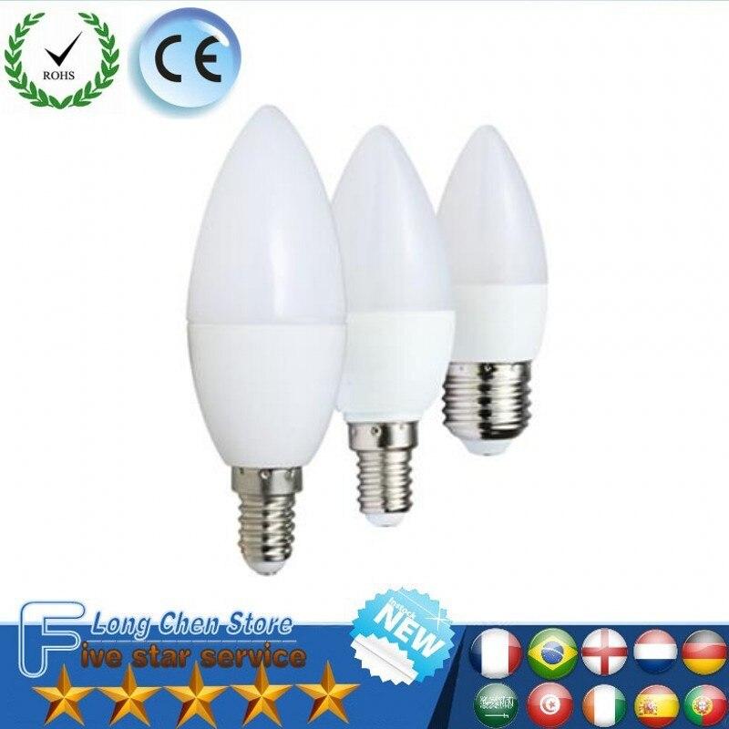 LED Candle Bulb E14 E27 Energy Saving Light Bulb Lampada Led E14 5W 7W 220V Bombillas Led Spotlight For Home Decoration 5Pcs/Lot