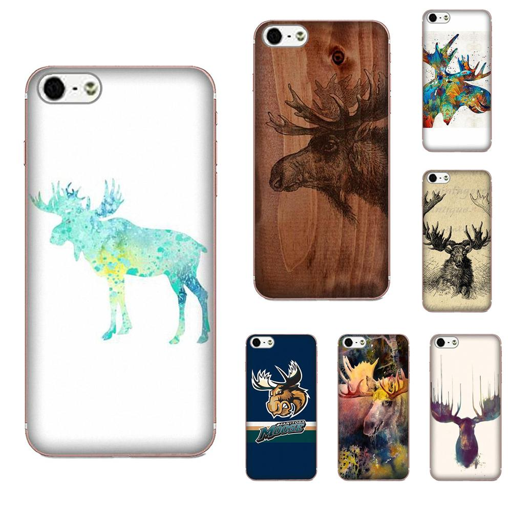 Moose <font><b>Wood</b></font> Pattern Soft TPU Call Box For <font><b>Galaxy</b></font> Alpha Core Note 2 3 4 S2 A10 A20 A20E A30 <font><b>A40</b></font> A50 A60 A70 M10 M20 M30 image