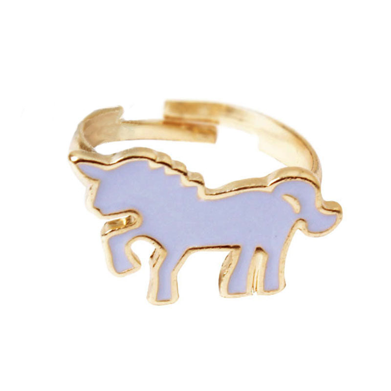 Professional Sale Ivyye 1pcs Cute Unicorn Fashion Anime Finger Rings Alloy Jewelry Wedding Ring Party Women Girls Accessories Gifts New Luxuriant In Design Engagement Rings