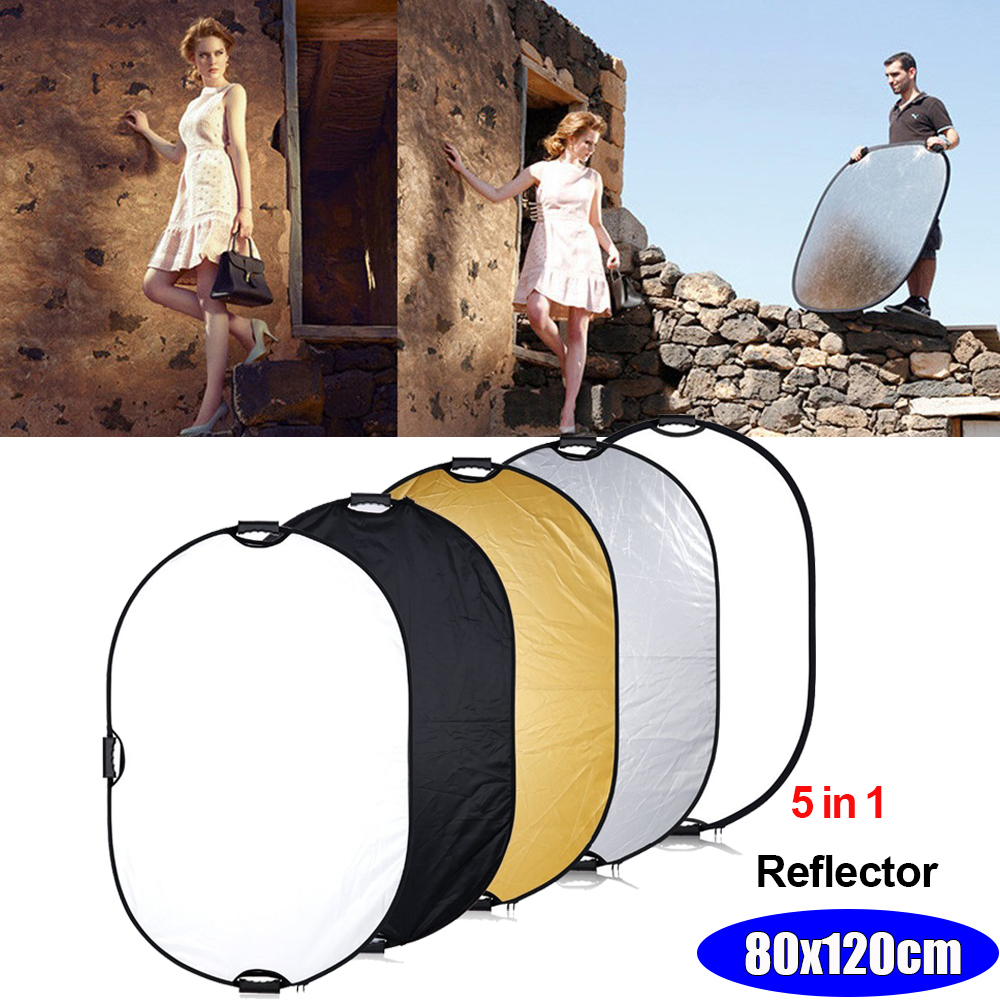 INSEESI 5 in 1 Portable Handle Oval Collapsible Studio Photo & Outdoor Photography Lighting Multi Light Reflector Accessories аксессуары для фотостудий oem 32 80 7 1 multi light reflector