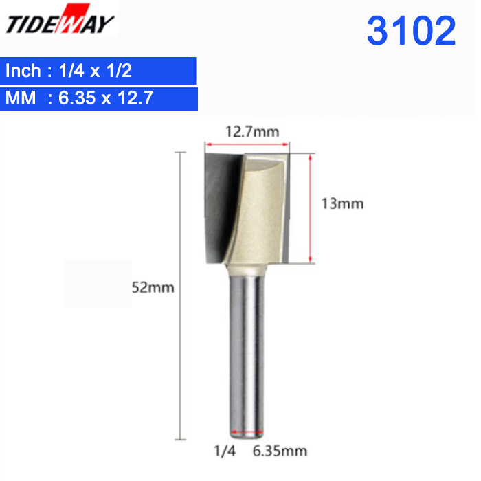 """1//4/"""" x 7//8/"""" Carpentry Cleaning Bottom Router Bit Cutter Wood Cutting Tool"""