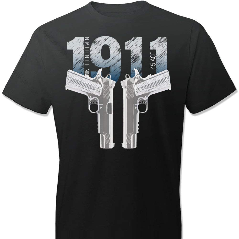 1911 Colt Handgun Pro Gun 2nd Amendment 100% Cotton Men T Shirt T Shirt Fashion 2018 Brand Design T Shirts Casual Tees Normal image