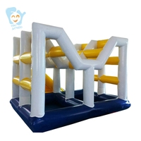Giant Inflatable Water Floating Water Park Island Set Fun Toy Beach Sea Giant Slide