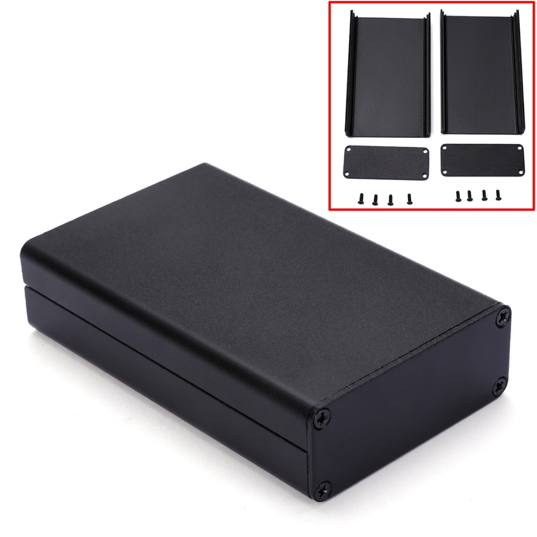 Black Aluminum PCB Instrument Box Extruded Enclosure DIY Electronic Project Case 80x50x20mm electronic project box 44 5 h x482 w x200 l mm extruded aluminum enclosures black high quality and cheap cost aluminum case