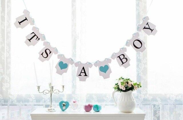 Free Shipping 1 X It\u0027s A Boy/ It\u0027s A Girl Banner Baby Shower Garland