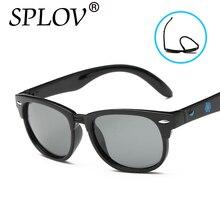 2017 TR90 Moda Niños Niñas Diseñador de la Marca de gafas de Sol Gafas de Sol Lente TAC Polarizado Gafas de Sol de Bebé de Seguridad Para Niños Gafas de Sol