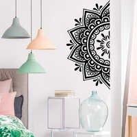 2019 nuevos adhesivos de pared con flores de Mandala para decoración de sala de estar pegatinas de pared vinilo de decoración del dormitorio calcomanía vinilos decorativo