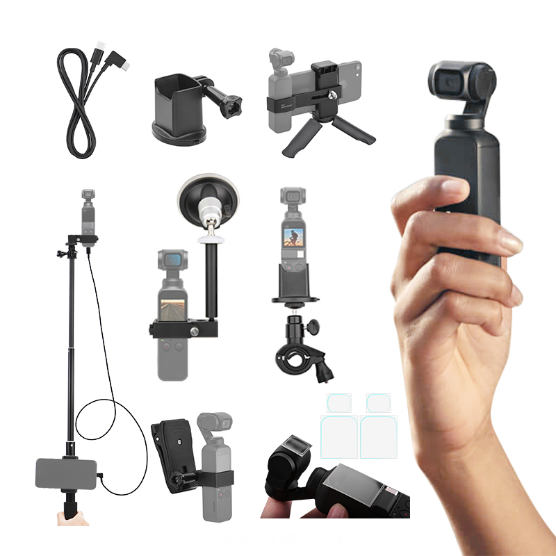 DJI Osmo Pocket Data Cable for IOS Type c Android Adapter Backpack Clip Desktop Tripod Extension