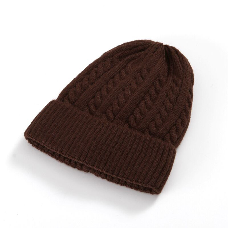 Fashion Caps Warm Add wool Autumn Winter Double eaves brushed Knitted Hats For Women Stripes Skullies Men's Beanies 5 Color 8620 fashion caps warm autumn winter knitted hats for women stripes double deck skullies men s beanies 7 colors free shipping