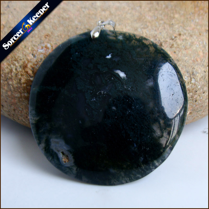 Unique Mens Jewelry Agates Natural Stone Pendants Statement Necklaces Wholesale Crystal Leather Chains Fashion Jewelly SS057