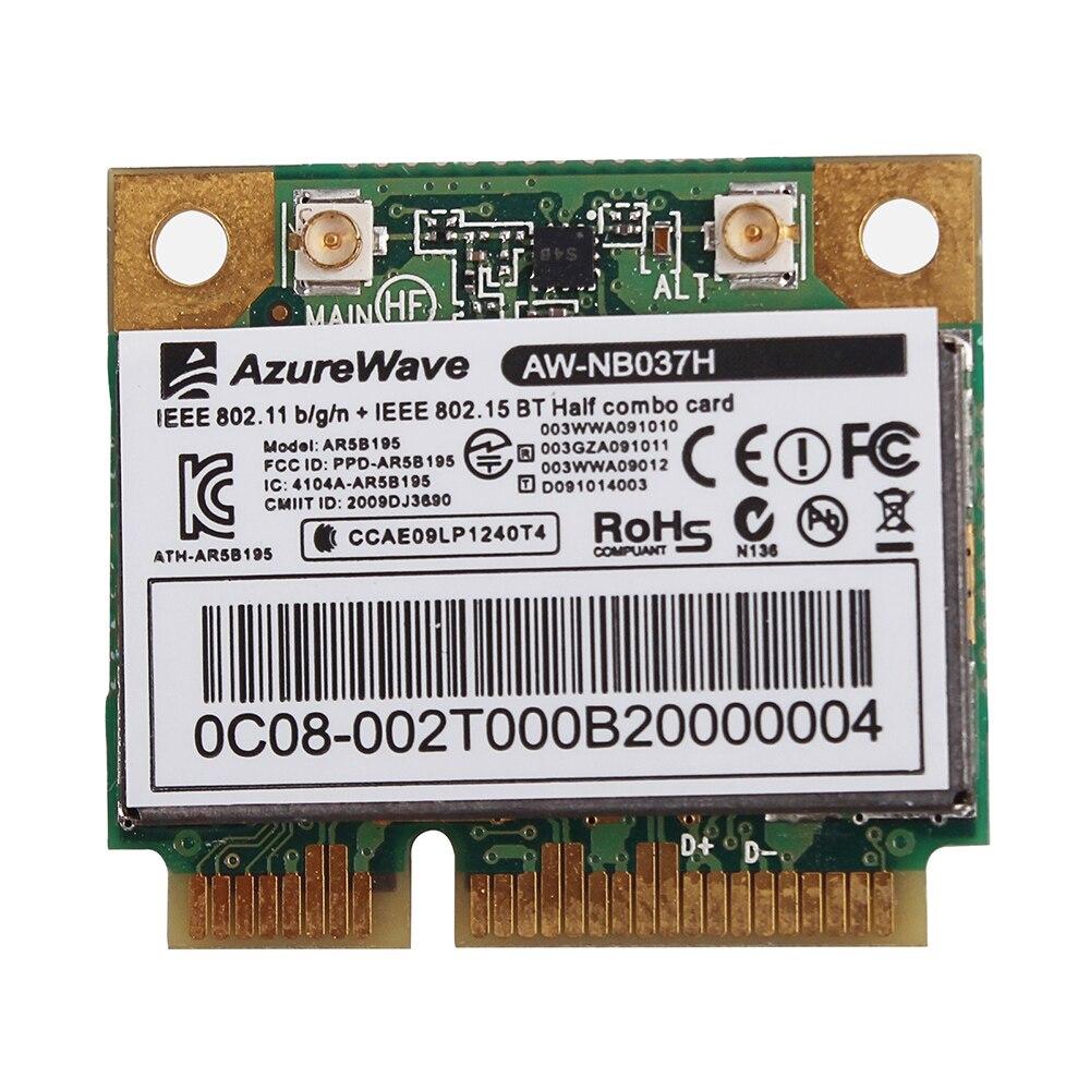 Новый AZUREWAVE AW-NB037H 802.11nbg + Bluetooth 300 Мбит/с мини PCI-E карта ноутбук беспроводная Wifi карта
