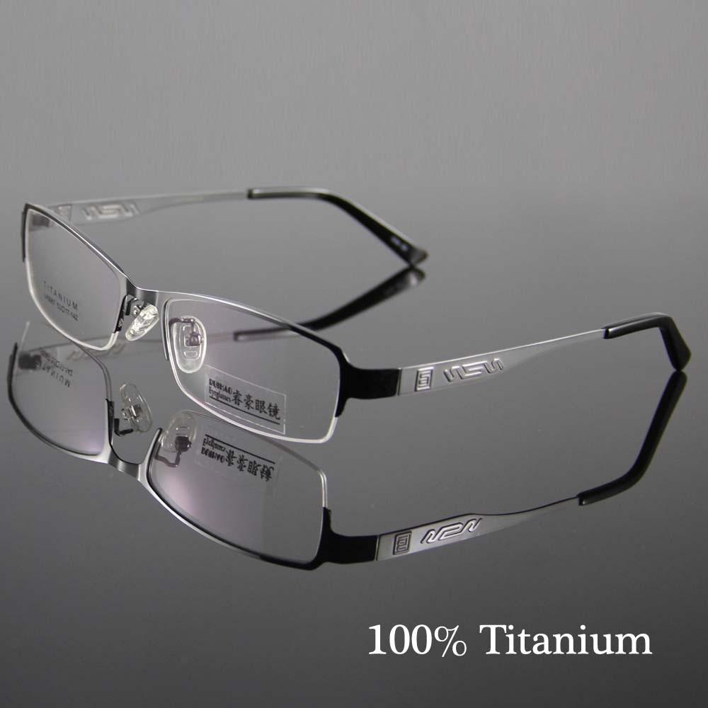 8307758e6 웃 유أزياء النظارات الإطار التيتانيوم النظارات الرجال النساء نصف ...