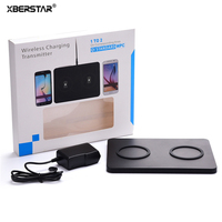 XBERSTAR Dual Fast Charging QI Wireless Charger For Samsung IPhone 8 IPhone X Transmitter Dock With