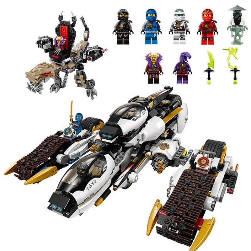 1167pcs compatible Ninjagoeds 4 in 1 Vehicle Ultra Stealth Raider Chenosaurus Building Blocks Sets Toys For