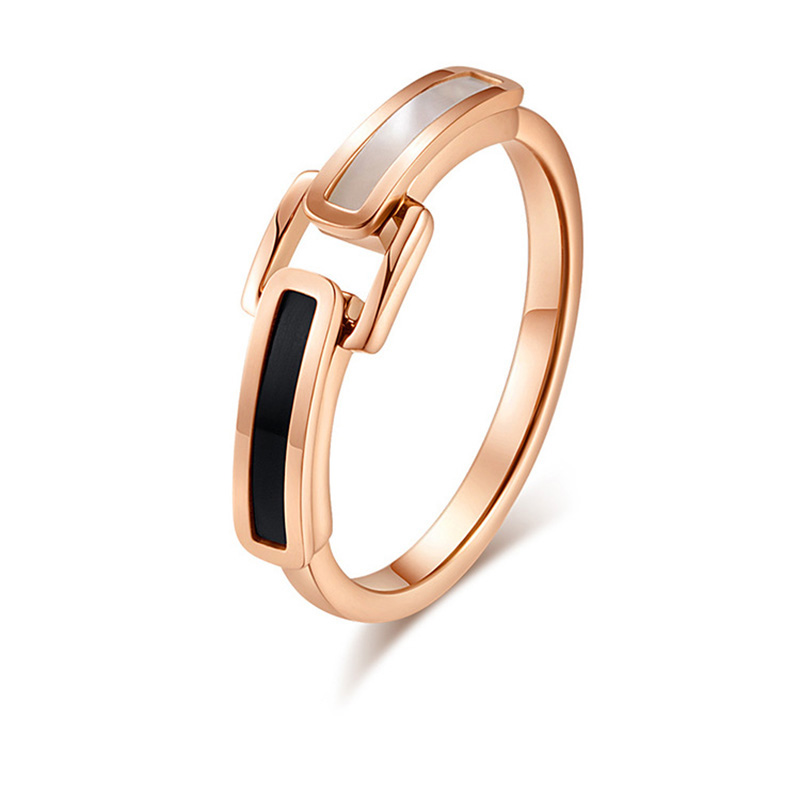 Korean Design Titanium Steel Rose Gold Shell Ring Anel Fashion Women's Accessory Wedding Band Ring Bague Jewelry Hot Sale JZ250