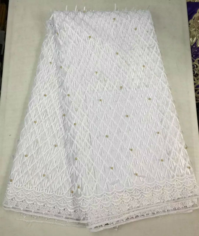 2017 high quality african tulle lace fabric for wedding for White lace fabric for wedding dresses