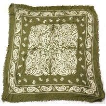 Весна Осень Высокое качество хлопок Amy зеленые с Пейсли квадратные шарфы шаль леди банданы обёрточная бумага для акции