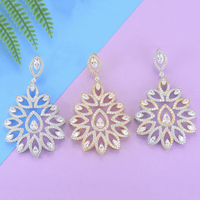 missvikki Rhinestone Crystal New Earrings Peacock Tail Shape Ornament For Women Wedding Engagement Dance Party Jewelry Wholesale